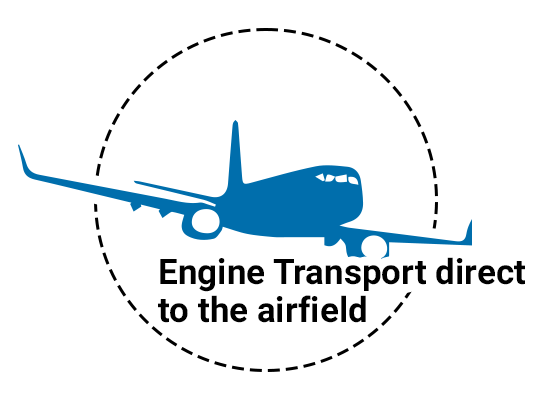 Engine Transport direct to the airfield